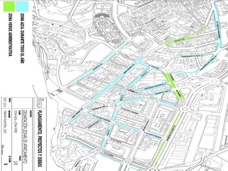 Mapa Zona Azul Valencia.La Nueva Zona Azul De Calp Podria Costar Un 66 Mas Que En Denia Alicante O Benidorm Noticias La Marina Plaza