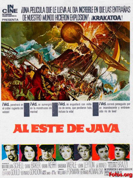 Cine: «Krakatoa, al este de Java» Dir.: Bernard L. Kowalski -Dénia-.  Eventos. Agenda cultural Dénia, Xàbia...La Marina Alta