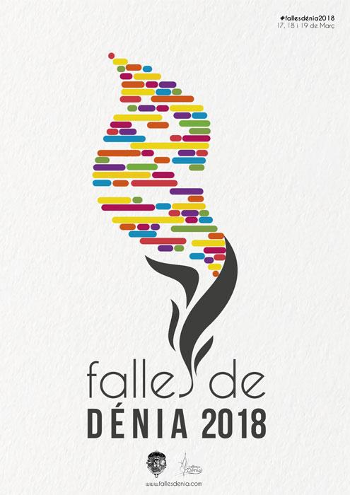 Cartel Fallas Dénia 2018