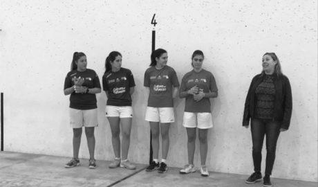 Benissa hace historia con la primera partida de raspall femenino