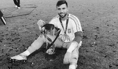 El guardameta de Xàbia Antonio Sivera, campeón de Europa Sub-21