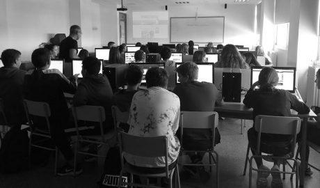 Taller de periodismo con los alumnos de 3ºA del IES Sorts de la Mar de Dénia