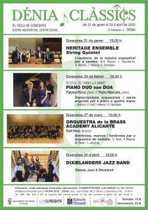 'Dénia Clàssics'. Concierto de Dixelanders Jazz Band: 'Clásico Jazz & Dixieland' @ Teatre Auditori del Centre Social, Dénia