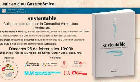 """Presentación de la guía de restaurantes sostenibles de la Comunidad Valenciana """"Sustentable"""" -Dénia-"""