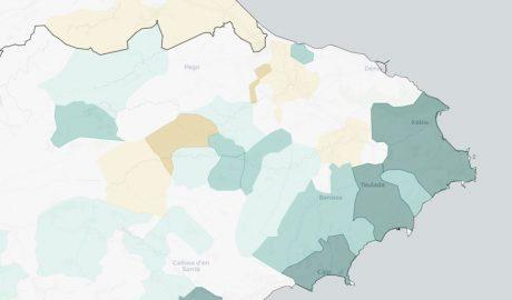 De qué mueren los vecinos en cada uno de los 33 municipios de la Marina Alta