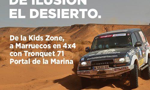 El equipo Tronquet 71 Portal de la Marina pone en marcha un proyecto solidario de reparto de juegos y material escolar en el desierto de Marruecos