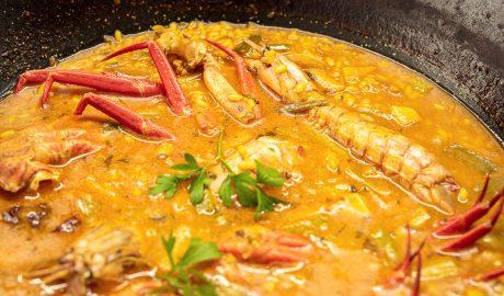 Un arroz de marisco realmente memorable en Chef Amadeo de Gandia