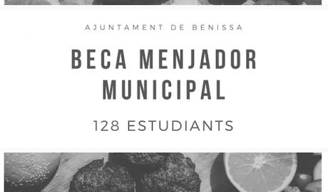 Benissa cubrirá las becas de comedor que no financie la conselleria