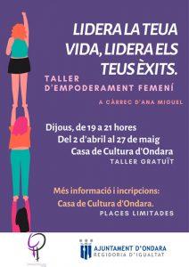 Xerrada d'empoderament 'Dona, tu pots' per Ana Miguel -Ondara- @ Casa de Cultura d'Ondara