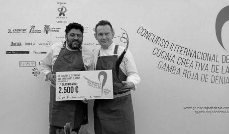 El chef Iván Muñoz gana el noveno Concurso Creativo de la Gamba Roja de Dénia