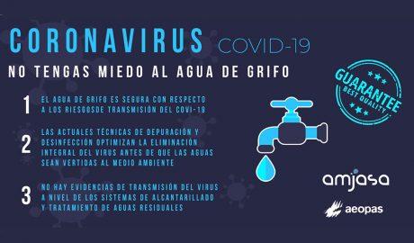 COVID-19. El agua de grifo es sana y segura