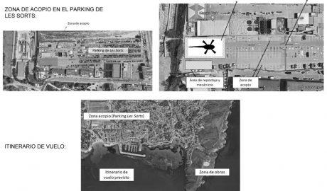 Un helicóptero transportará los materiales de obra para la recuperación del Cap d'Or de Teulada