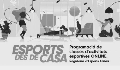 El coronavirus no frena en Xàbia la actividad deportiva, que ahora se practica desde casa