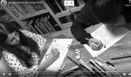 [VÍDEO] Niñas y niños de Dénia que dibujan su falla a la espera de que planten la de verdad